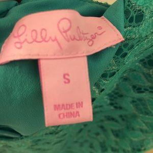 Lilly Pulitzer green lace dress